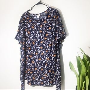 Isabel Maternity Floral Short Sleeve Blouse